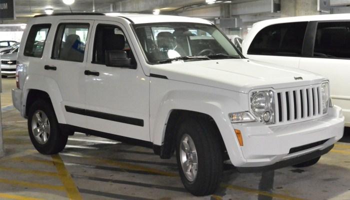 Jeep Liberty con dificultades